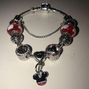 Jewelry - Brand New 18cm Mickey Minnie Mouse Charm Bracelet